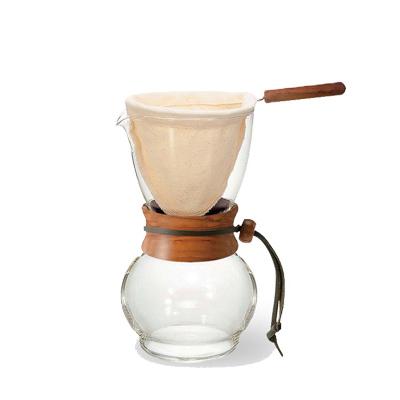HARIO 濾布欖橄木手沖咖啡壺480ml 3~4杯 DPW-3-OV