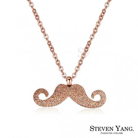 STEVEN YANG【KC4115】西德鋼飾「逗趣鬍子」鋼項鍊 俏鬍子 附鋼鍊*單個價格*