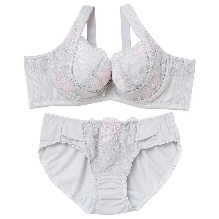 【內衣瞎拼】樸塑II代胸罩內褲組 B-E (淺灰)40D-L