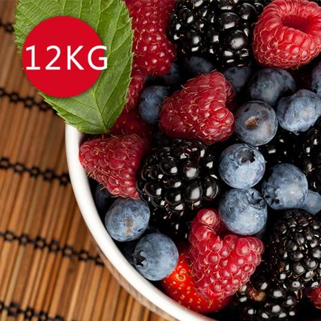 【幸美生技】進口急凍莓果任選12公斤/栽種藍莓/蔓越莓/覆盆莓/黑莓/黑醋栗/草莓/紅櫻桃