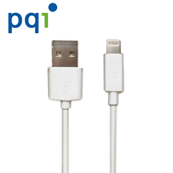 PQI i-Cable Lightning 雙向USB 180cm MFI蘋果認證線-白色