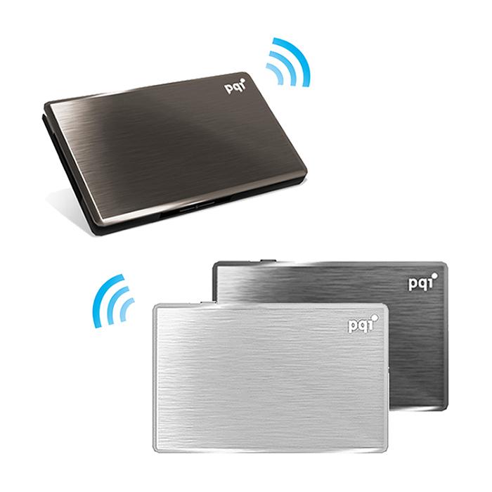 (APP搶購) PQI Air Drive A100 Apple 無線Wifi 名片型讀卡機 (工業包祼裝)黑色