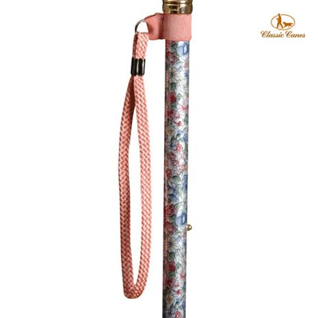 英國Classic Canes手杖配件。粉紅色手腕環扣繩