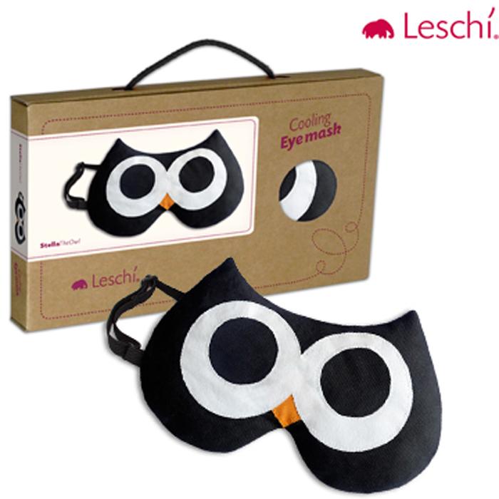【德國萊思綺Leschi】舒緩疲勞熱敷/冷敷眼罩貓頭鷹造型-黑色