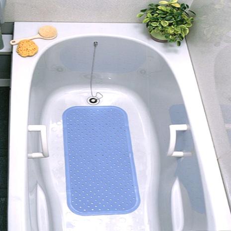 日本waise浴缸專用大片止滑墊(水藍)