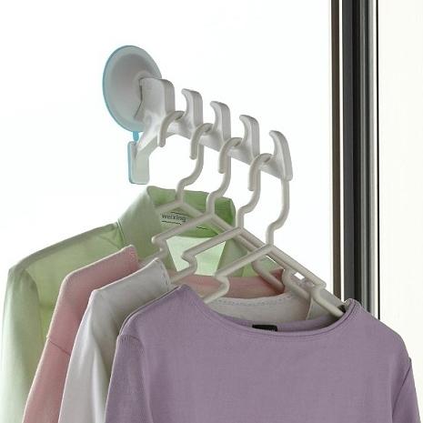 日本AISEN【 室內機能 】強力吸盤曬衣架