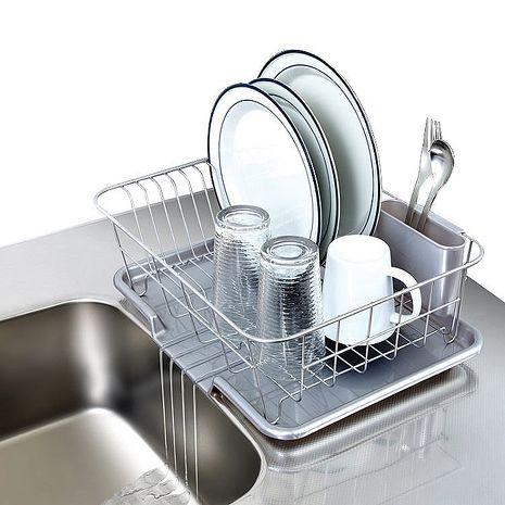 【促銷】日本ASVEL流理台餐盤收納架附瀝水盤