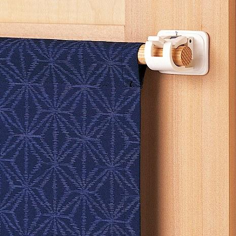 日本 LEC黏貼式窗簾桿專用掛勾(3包裝)