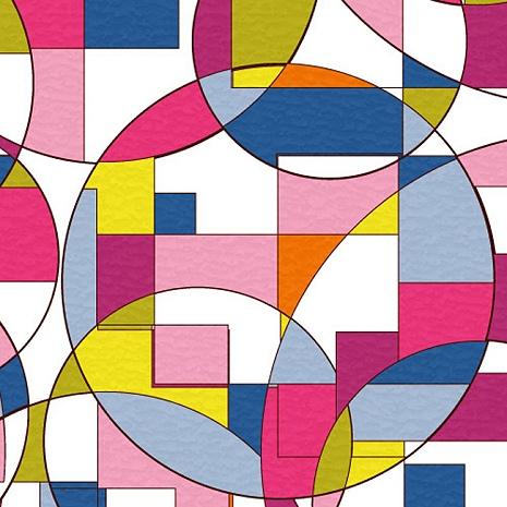 【8折促銷】日本meiwa抗UV靜電窗貼(抽象幾何) - 46x100公分