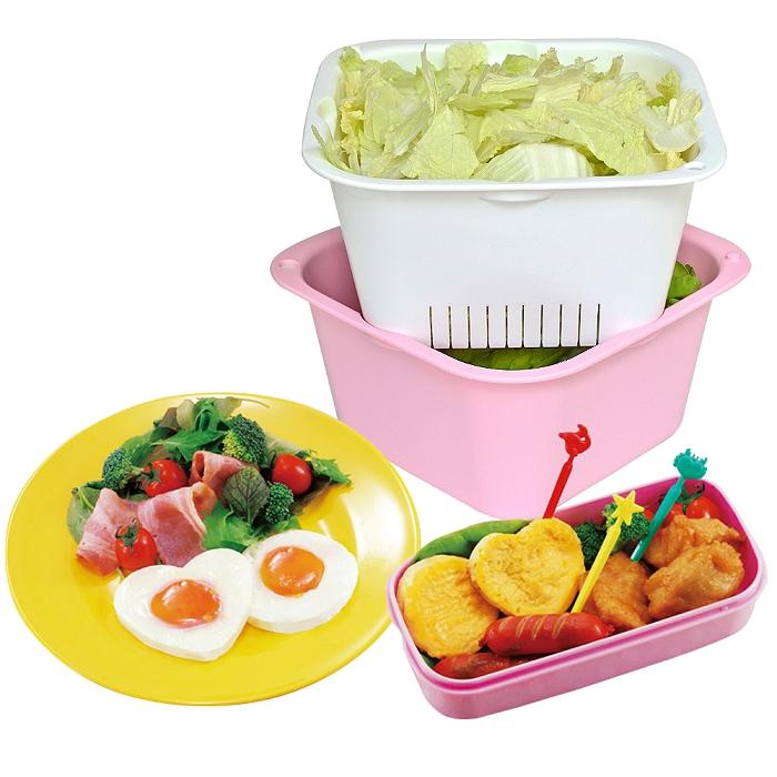 【促銷】日本Richell銀離子深L型瀝水籃(1組2入裝)買就送蒸蛋模具組