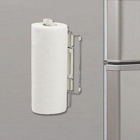 日本LEC磁吸式不鏽鋼曲面伸縮紙巾架