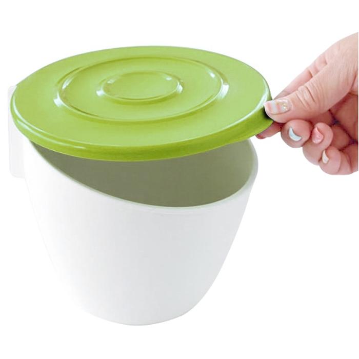 日本製造HACHIMAN流理台抗菌吸盤收納筒(芥末綠)