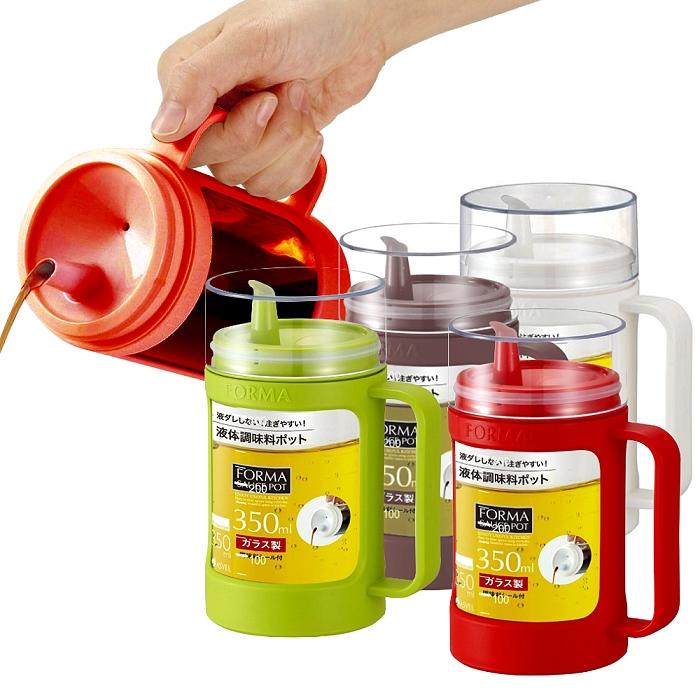 【2入特惠組】日本ASVEL油控式350ml調味油手提玻璃壺
