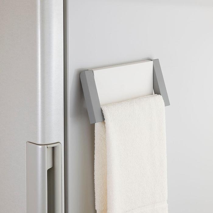 日本Belca磁吸式毛巾架(白彩)