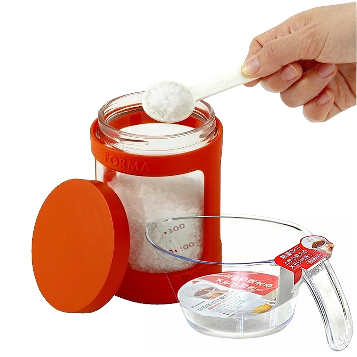 【特惠組】日本ASVEL完全密閉470ml玻璃調味罐+300ml耐熱量杯