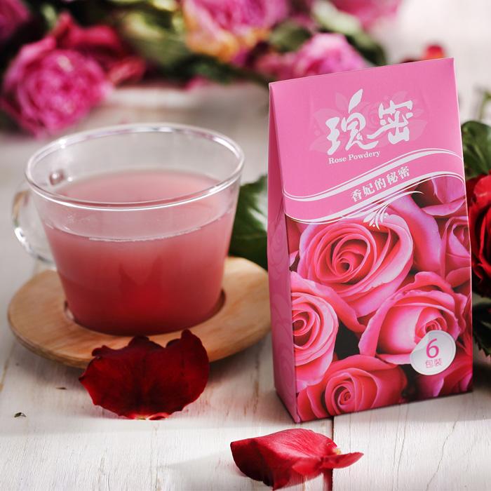 【台灣瑰密】無毒食用玫瑰花(輕巧包1g*6包/盒)