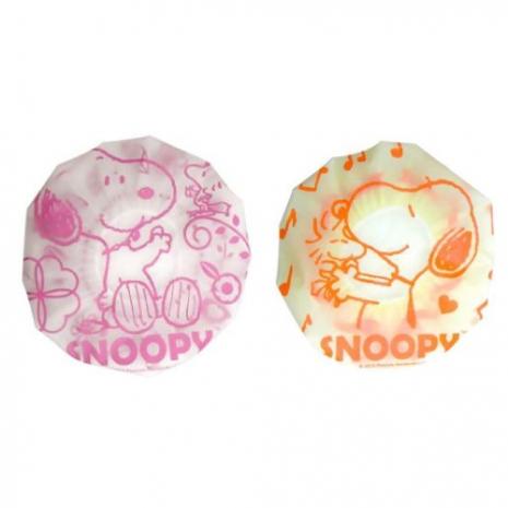 史努比Snoopy浴帽*3入/組粉-花朵