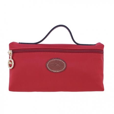LONGCHAMP Le Pliage 摺疊包系列化妝包(紅)-美妝‧保養‧香氛‧精品-myfone購物