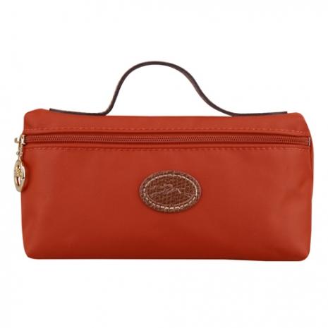 LONGCHAMP Le Pliage 摺疊包系列化妝包(芙蓉紅/小)-美妝‧保養‧香氛‧精品-myfone購物