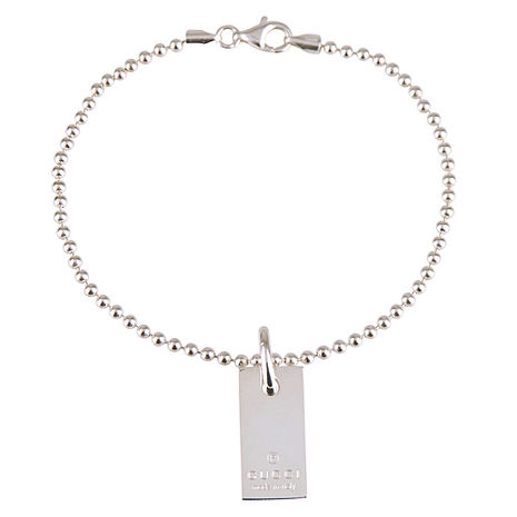 GUCCI 珠鍊造型純銀手鍊