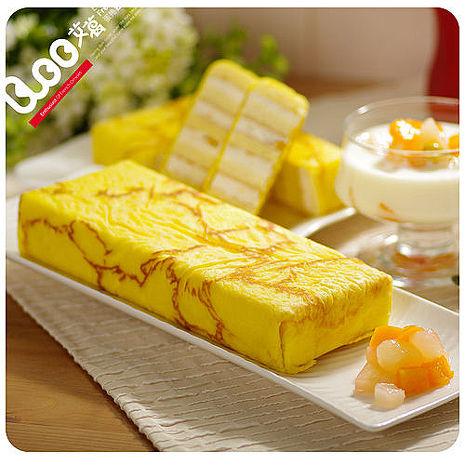 預購-艾葛蛋捲狂人 金磚蛋糕二片裝(水果優格x1片+ 鮮乳起司x1片)