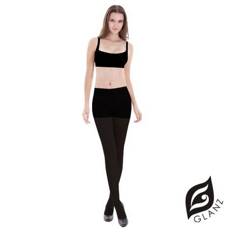 GLANZ 格藍絲 160 丹 束腹提臀美腿全彈性絲襪-經典黑