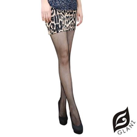 【GLANZ 格藍絲】韓系惹火版精品性感網襪-時尚細格