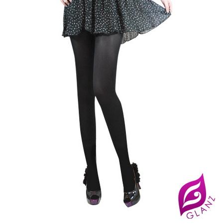 【GLANZ 格藍絲】美麗秘密全透明防勾纖腿絲襪-魅惑黑