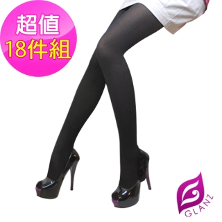 【GLANZ 格藍絲】100D 小惡魔防勾纖腿彈性絲襪團購18雙組