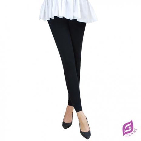 【GLANZ 格蘭絲】300丹厚織內起絨九分顯瘦褲襪-激瘦黑
