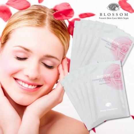【BLOSSOM】玫瑰微膠原蛋白保濕嫩白面膜(30ml*10片)