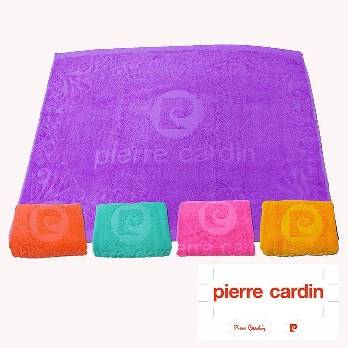 Pierre Cardin 皮爾卡登超柔亮彩緹花剪絨枕巾(2入1付)