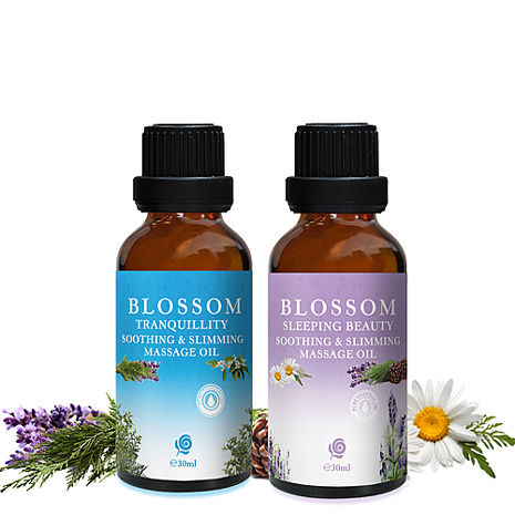 【BLOSSOM】勻體曲線緊緻修護按摩油30MLx2瓶組(睡美人/寧靜舒緩任選)