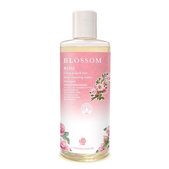 【即期良品】BLOSSOM 玫瑰植萃修護潤澤養髮精華洗髮精(250ML/瓶)