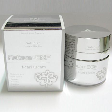 日本免稅店Blanche Blanche Platinum+EGF Pearl Cream 白金+EGF深層活化珍珠精華霜30g