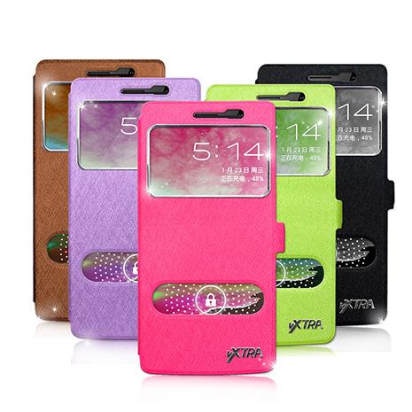 【VXTRA 】OPPO Find 7a / X9006 髮絲紋 雙視窗側翻支架皮套-手機平板配件-myfone購物
