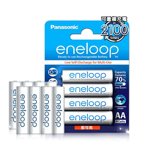 國際牌Panasonic eneloop 低自放鎳氫充電電池(4號8入) 贈電池盒