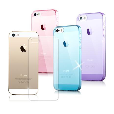 【VXTRA 】iPhone 5/5s/SE 超完美 清透0.5mm隱形保護套蜜糖透粉