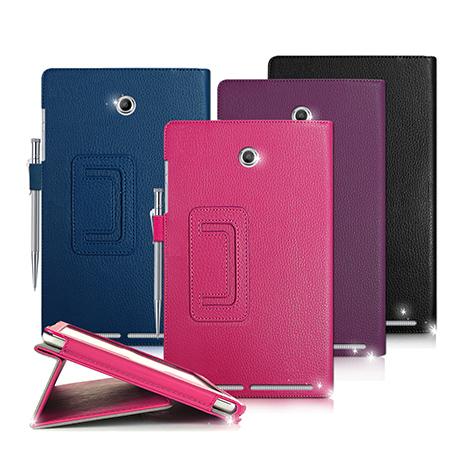 ACER Iconia Tab 8 A1-840 支架磁扣荔枝紋 書本式保護套 皮套甜甜蜜桃