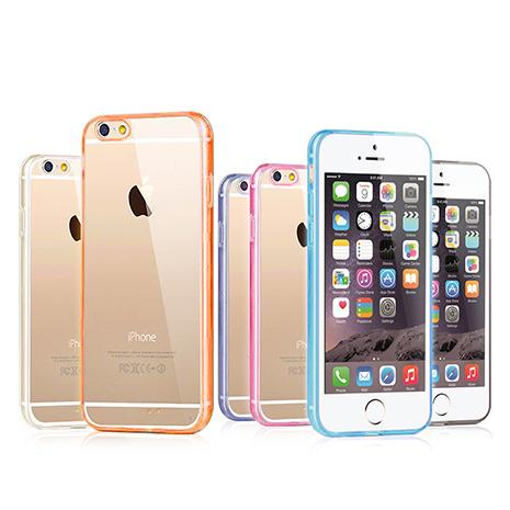 VXTRA iPhone6 Plus 5.5吋 超薄清透 雙料太空殼保護套坎波爾粉