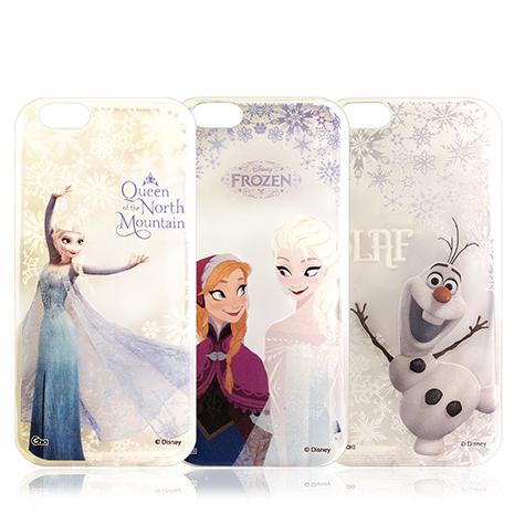 迪士尼授權正版 冰雪奇緣Frozen iPhone 6s/6 4.7吋 i6 透明彩繪軟式保護殼 手機殼艾莎