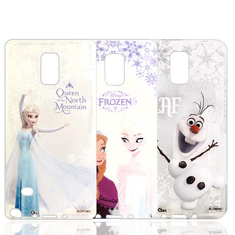迪士尼授權正版 冰雪奇緣Frozen SAMSUNG GALAXY Note 4 透明彩繪軟式保護殼 手機殼