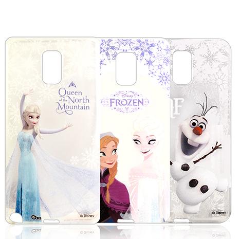 迪士尼授權正版 冰雪奇緣Frozen SAMSUNG GALAXY Note 3 透明彩繪軟式保護殼 手機殼
