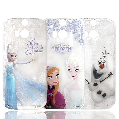 迪士尼授權正版 冰雪奇緣Frozen HTC One M8 透明彩繪軟式保護殼 手機殼艾莎