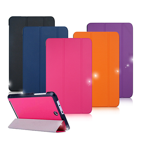 【VXTRA】宏碁ACER Inconia Tab 8 / W1-810 經典皮紋超薄三折保護套-手機平板配件-myfone購物