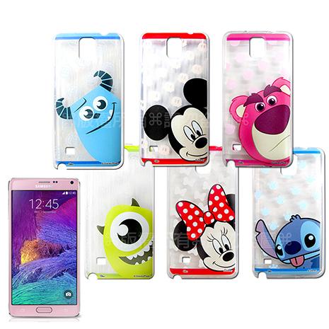 迪士尼授權正版 Samsung Galaxy Note 4 大頭娃透明彩繪軟式保護殼 手機殼-手機平板配件-myfone購物