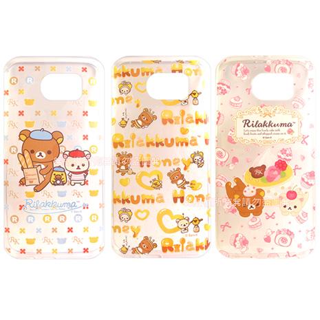 SAN-X授權正版  Samsung Galaxy S6 G9200 Rilakkuma/拉拉熊/懶懶熊 透明軟式保護套 手機殼(友誼款)