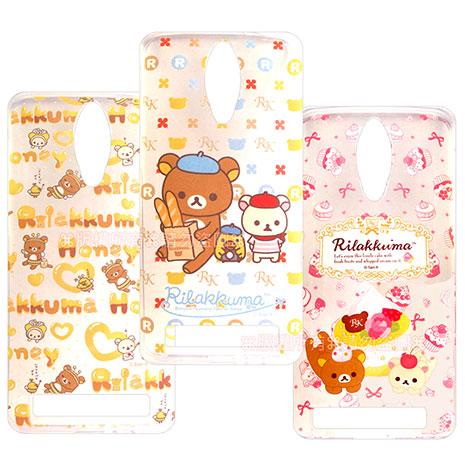SAN-X授權正版 ASUS Zenfone C ZC451CG Rilakkuma/拉拉熊/懶懶熊 透明軟式保護套 手機殼(友誼款)蝴蝶結蛋糕