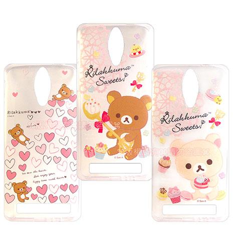 SAN-X授權正版 ASUS Zenfone C ZC451CG  Rilakkuma/拉拉熊/懶懶熊 透明軟式保護套 手機殼(甜蜜款)