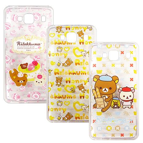 SAN-X授權正版 MIUI 紅米機2 Rilakkuma/拉拉熊/懶懶熊 透明軟式保護套 手機殼(友誼款)蝴蝶結蛋糕